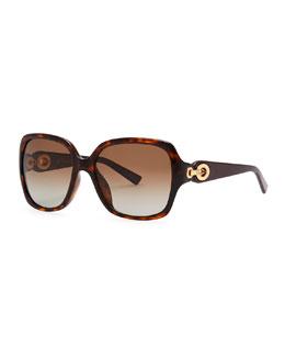 Dior Diorissimo 1N Square Sunglasses, Havana