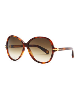 Marc Jacobs Round 503 Havana Sunglasses