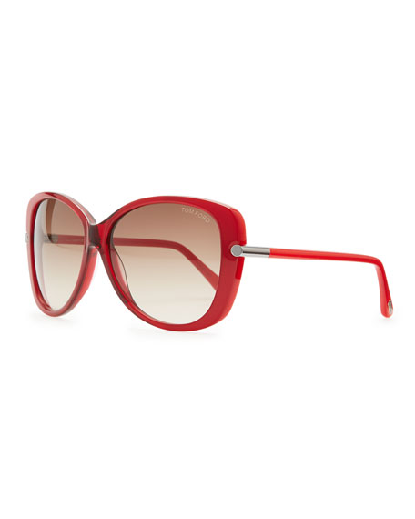 f390abe932a9b Tom Ford Linda Acetate Butterfly Sunglasses