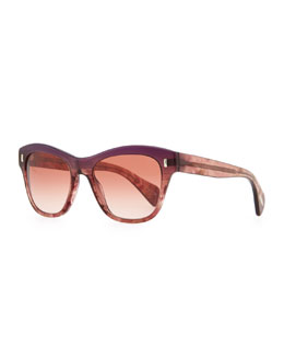 Oliver Peoples Sofee Polarized Sunglasses, Faded Fig