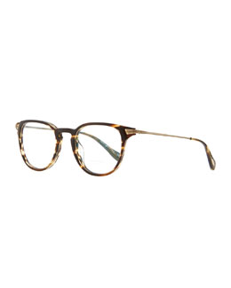 Oliver Peoples Ennis 48 Fashion Glasses, Coco/Brown