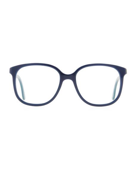 Softly Squared Acetate Fashion Glasses, Blue