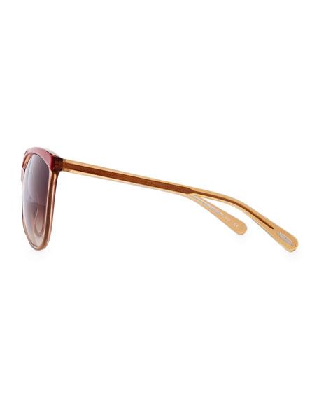 Ria Cat-Eye Sunglasses, Cranberry