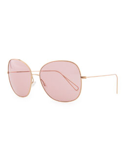 Oliver Peoples Isabel Marant par Oliver Peoples Daria 62 Oversized Sunglasses, Rose Gold/Pink