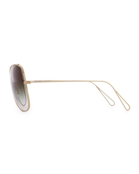 Isabel Marant par Oliver Peoples Daria 62 Oversized Sunglasses, Light Gold/Olive