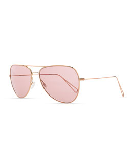 Oliver Peoples Isabel Marant par Oliver Peoples Matt 60 Aviator Sunglasses, Rose Gold/Pink