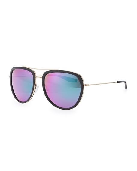Rio Aviator Sunglasses, Black/Multi
