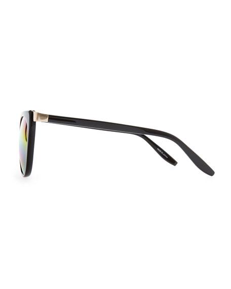 Ronette Soft Cat-Eye Sunglasses, Black