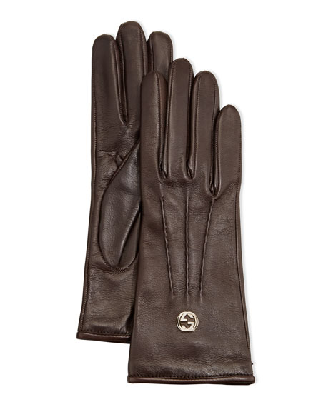 Classic Leather Driving Gloves, Cocoa