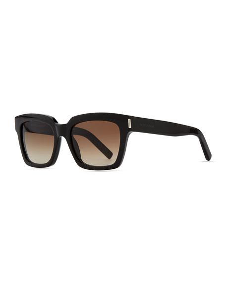 bold-transparent-square-sunglasses,-black by saint-laurent