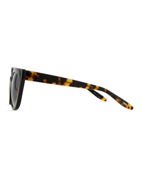 Shirelle Cat-Eye Sunglasses, Black/Tortoise