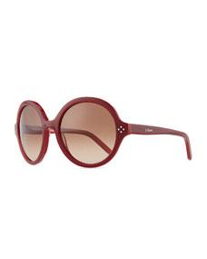 8995cd89b5c Chloe Boxwood Round Sunglasses