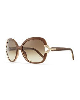 Chloe Brunelle Square Sunglasses, Turtledove