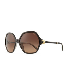 Chloe Marcie Oversized Sunglasses, Black