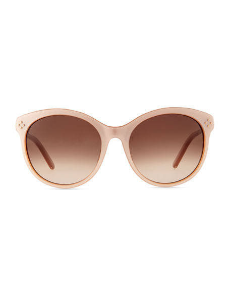 Boxwood Cat-Eye Sunglasses, Nude