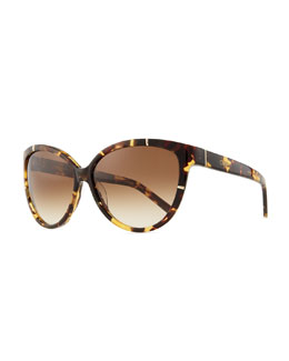Chloe Caspia Cat-Eye Sunglasses, Tortoise