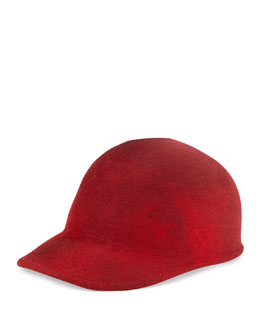 Eugenia Kim Joey Wool Cap Hat, Red Marble