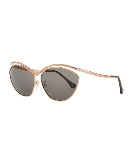 1f81e13da6326 Balenciaga Floating Metal Aviator Sunglasses