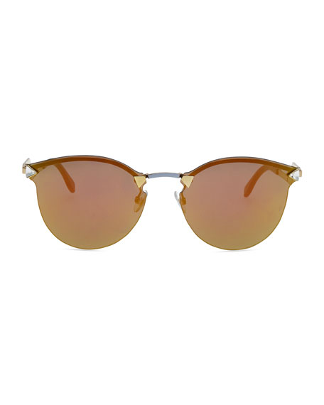 Rimless Sunglasses with Stepped Arms