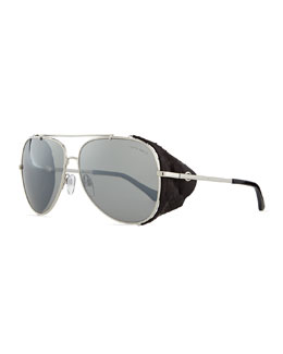 Roberto Cavalli Metal Aviator Sunglasses, Silvertone