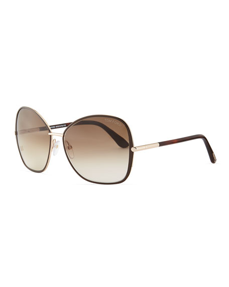 645b28ec789 TOM FORD Solange Metal Square Sunglasses