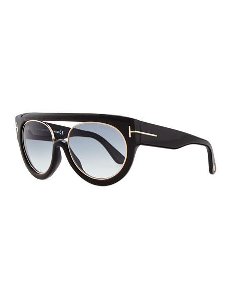 a3714134ec TOM FORD Alana Modified Plastic Aviator Sunglasses