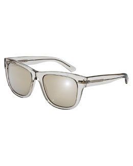 D&G Clear Rectangle Sunglasses, Gray