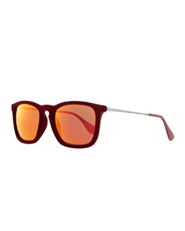 Ray-Ban Erika Velvet Edition Sunglasses, Burgundy Red