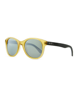 Ray-Ban Round Acetate Sunglasses, Yellow/Blue