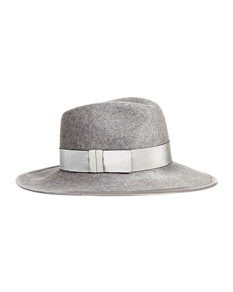 Georgina Felt Panama Hat, Heather Gray