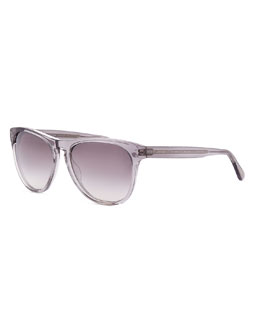 Oliver Peoples Daddy B Clear Plastic Square Sunglasses, Gray