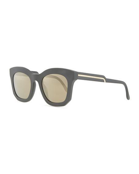 Thick Plastic Square Sunglasses, Gray