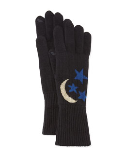 Diane von Furstenberg Moon & Stars Knit Smart Gloves
