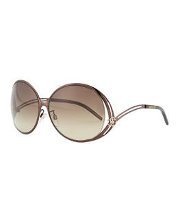 Roberto Cavalli Round Metal Sunglasses, Bronzed