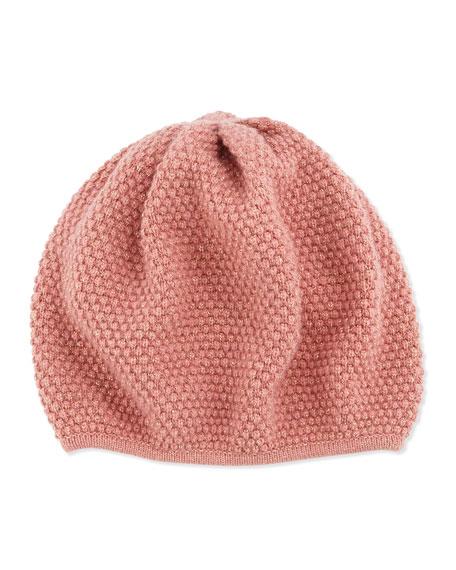 Metallic-Knit Mushroom Hat, Canyon/Milagold