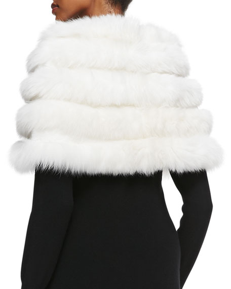 Fox/Rabbit Fur Stole, White