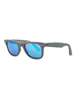 Ray-Ban Wayfarer Sunglasses with Mirrored Lenses, Iridescent Violet