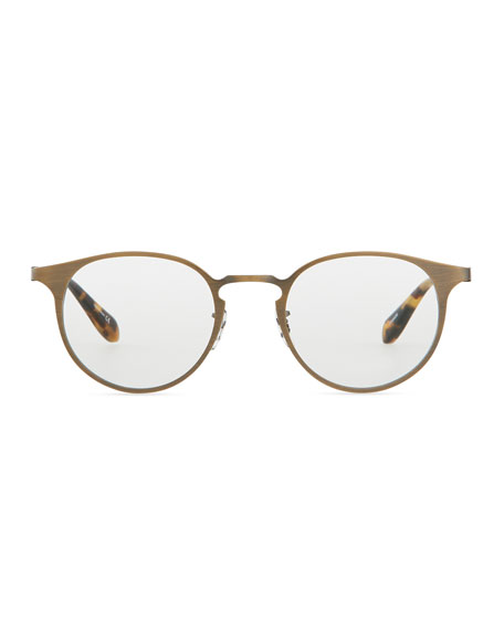 Wildman Round Fashion Glasses, Gold