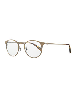 Oliver Peoples Wildman Round Fashion Glasses, Gold