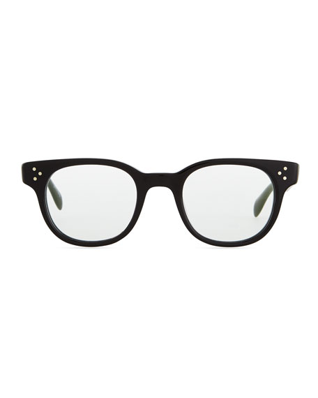 Afton Round Fashion Glasses, Black