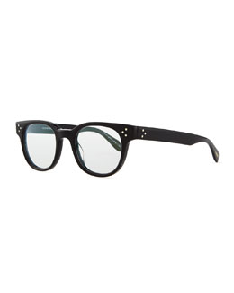 Oliver Peoples Afton Round Fashion Glasses, Black