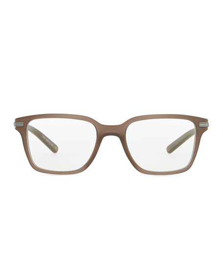 Stone Rectangle Fashion Glasses, Taupe