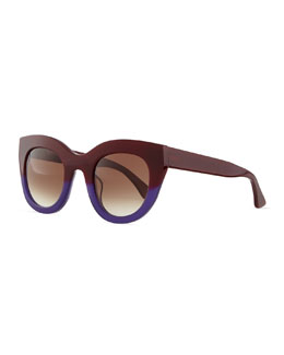 Thierry Lasry Deeply Sunglasses, Burgundy/Purple