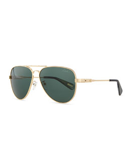 Metal Aviator Sunglasses, Gold