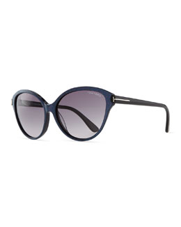 Tom Ford Priscila Cat-Eye Sunglasses, Violet