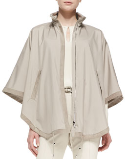 Loro Piana Vail Windstorm Reversible Cashmere Cape, Tan