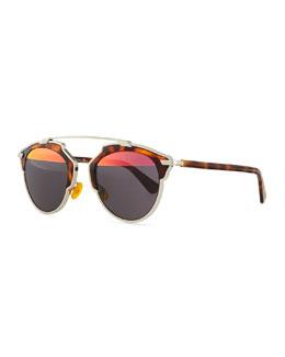 So Real Brow Bar Sunglasses, Havana