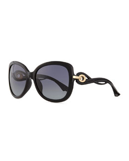 Twisting Diorissimo Sunglasses, Black