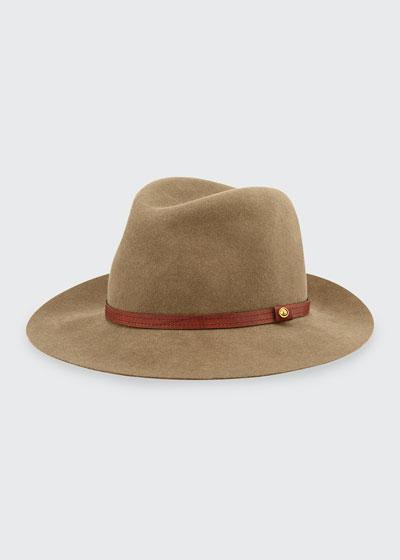Floppy Brim Wool Fedora Hat, Pecan