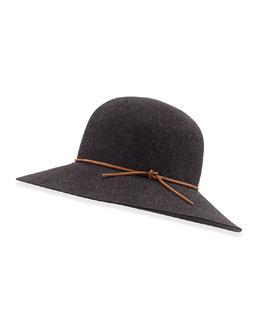Wool Dunaway Hat, Black